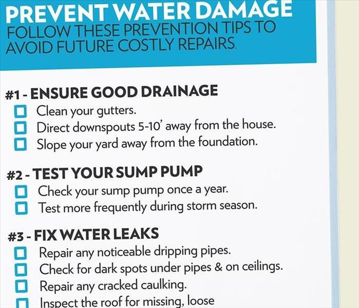 General Tips To Prevent Water Damage